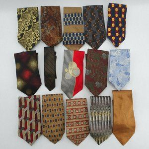 Lot of 15 Necktie Ties Silk Park Avenue Guess Abbo